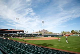 Scottsdale Stadium home to the San Francisco Giants in Scottsdale, Ariz. on Feb. 23, 2016. Scottsdale Stadium is located in the heart of Old Town Scottsdale.